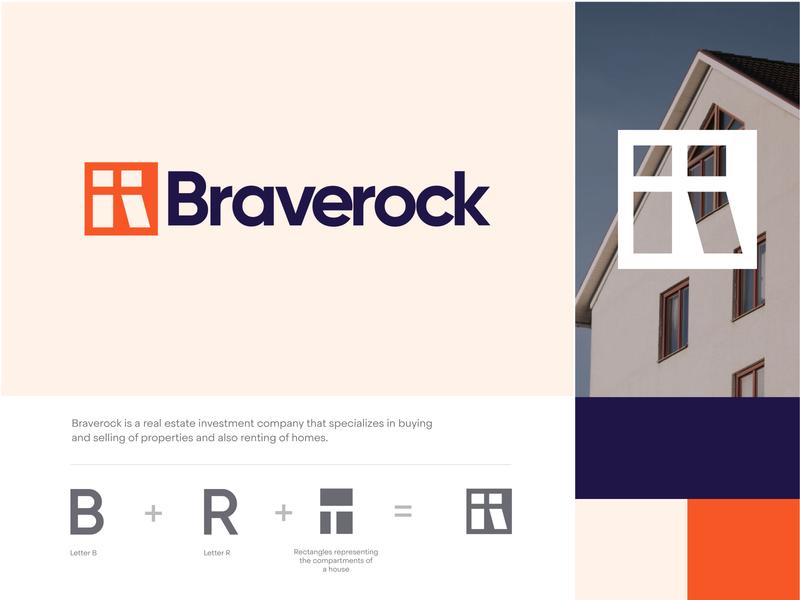 Braverock Exploration one creativity creative direction creative logo identity minimal visual visual design brand identity brand design realestate logodesign logo icon