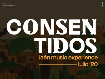 Consentidos - Festival Branding festival logo brand identity design typography branding illustration samudiaz
