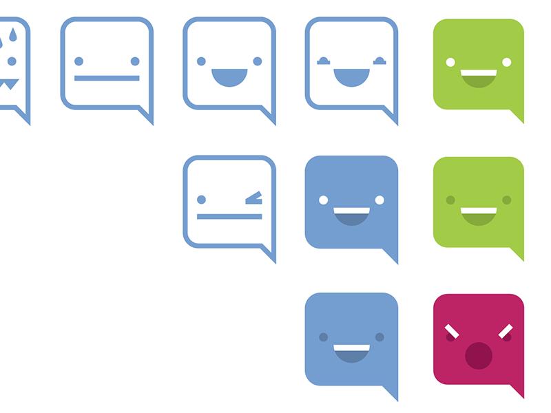 IC Emoji illustration intuitive company fun branding emoji intuitive