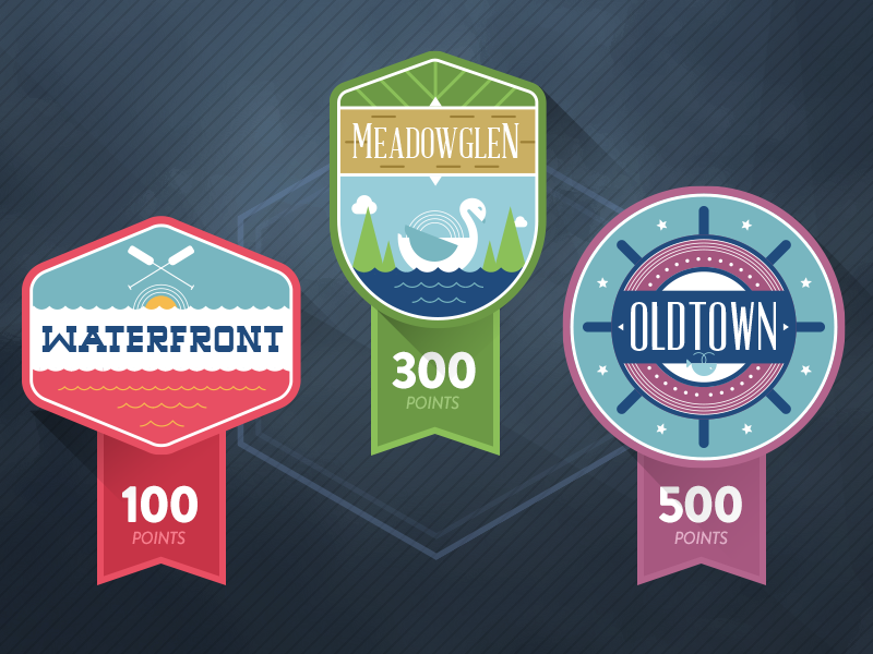 Scoring Badges design ui intuitive company illustration fun scores