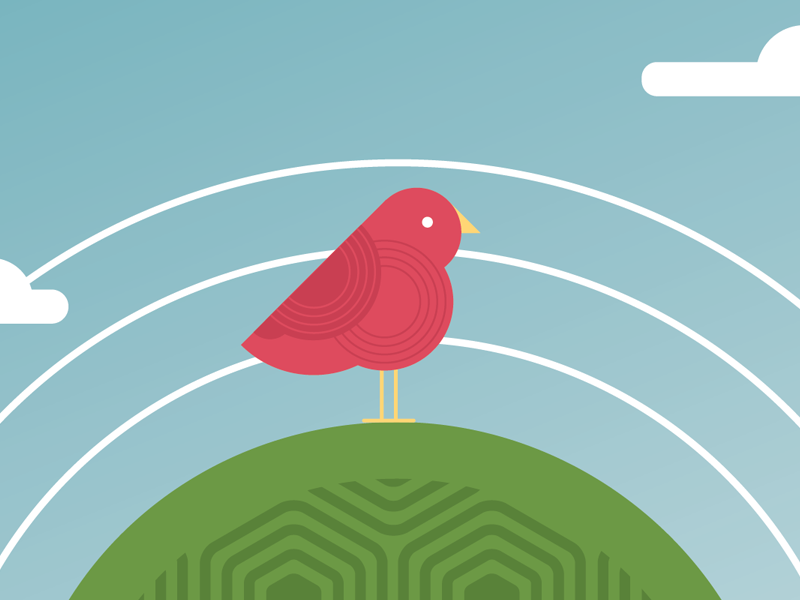 Put a bird on it! illustration birds design intuitive company branding games