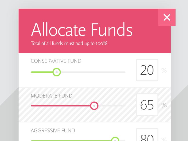 Allocation Sliders design ui intuitive company slider fun stats clean