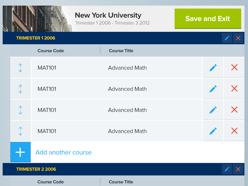 A List as Long as your Arm school spreadsheet intuitive company ui list design