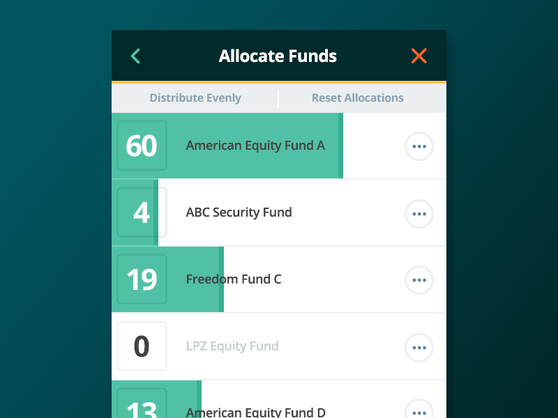 Slider Interaction ux allocation slider design intuitive company