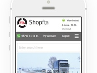 Mobile layout for e-commerce site