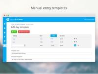 Visionfta manual entry templates