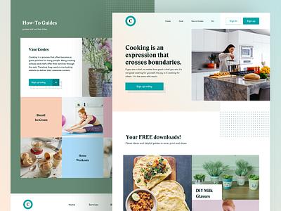 Cooking Website Design cooking website minimal web productdesign website design web design cooking brand cooking web websitedesign