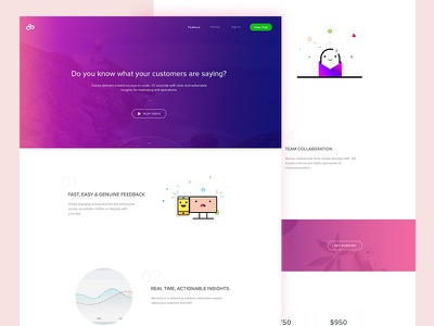 Ezisay Landing Page operations marketing agency web ui page minimal landing design clean