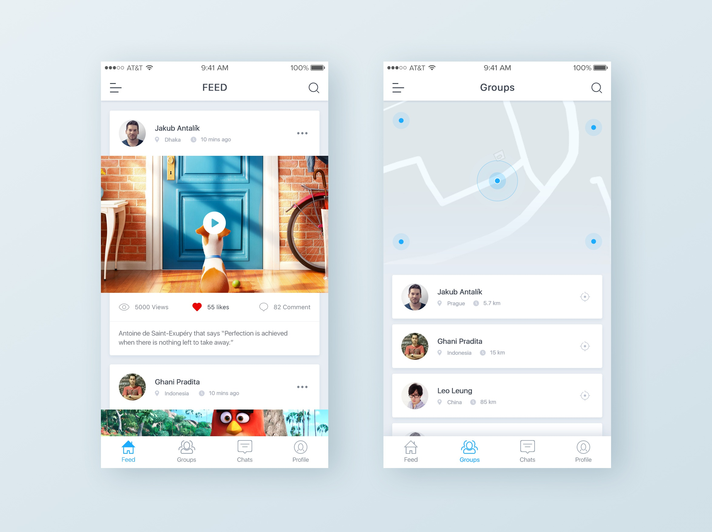 Social location app preview