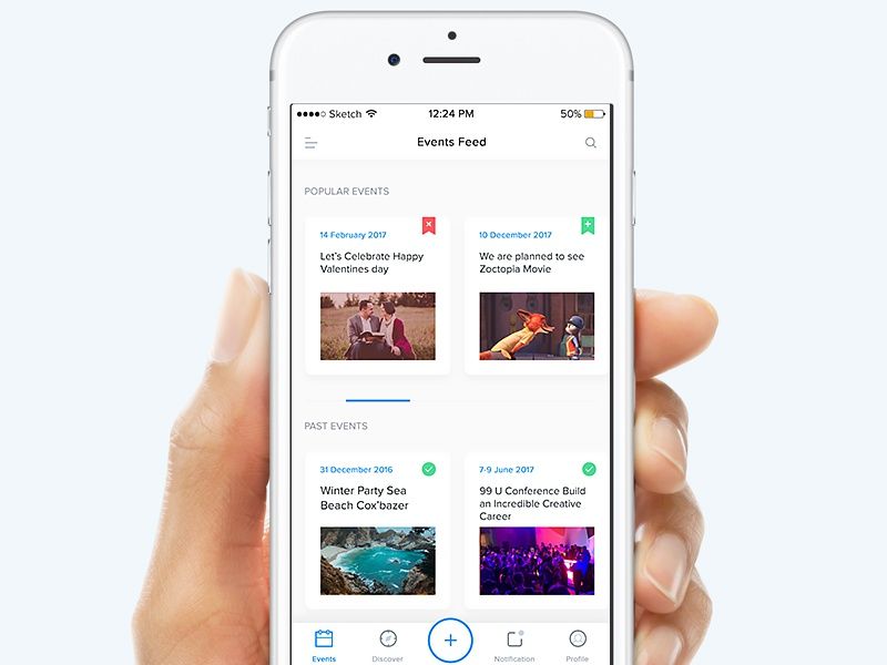 Event Feed iOS Apps mobile ios events app