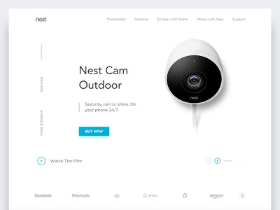 Nest Cam Outdoor Product Landing Page Exploration website uxdesign uidesign ui page homepage web landing product outdoor cam nest