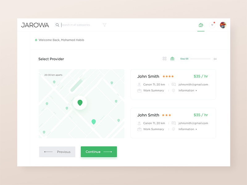 Jarowa Web Application Design