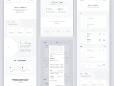 Catering demand High Fiderally Wireframe wood web typography texture sketch site navigation menu food design flight button