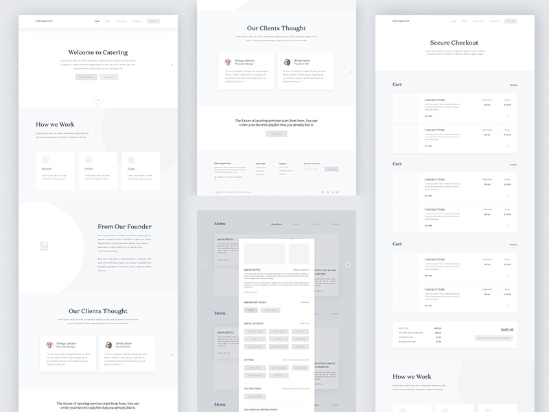 Catering Demand High Fiderally Wireframe By Masudur Rahman