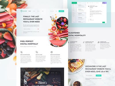 Sociavore Landing Page Design Full View