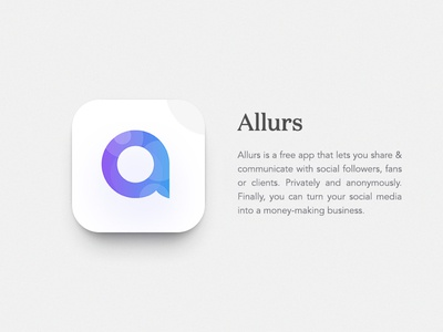 Allure App Icon Design