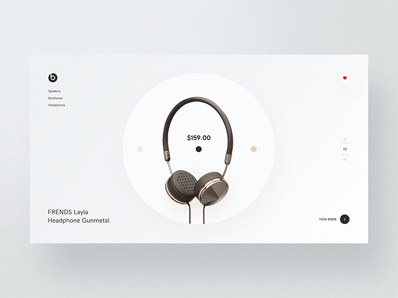 Frends Layla Headphones headphone-ui layla store shop product page landing interface homepage headphone desktop cover