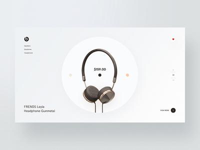 Frends Layla Headphones headphone-ui layla store shop product page landing interface homepage headphone desktop cover