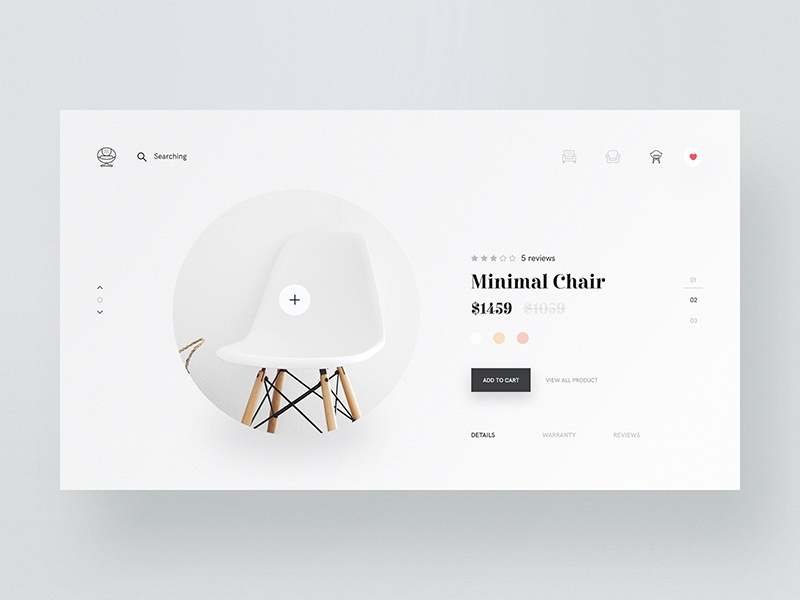Minimal Chair Design theme stile sofa lamp homepage furniture ecommerce chair bootstrap bigcommerce