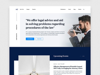 Lawyer Website Exploration law legal website webdesign pitch layout lawyers full-size