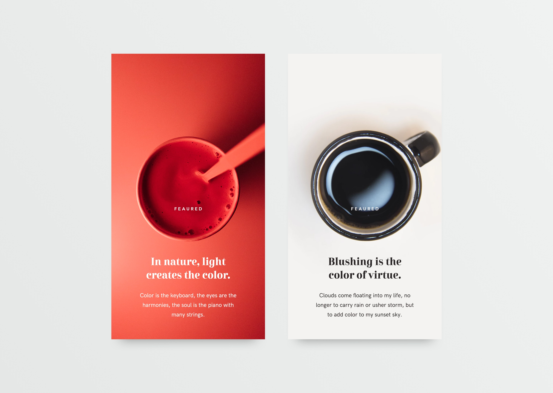 Article cards design