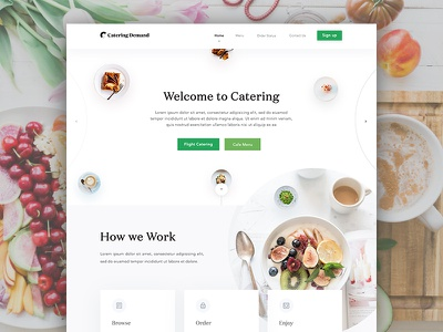 Catering homepage design full view