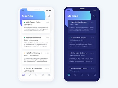 Iphone-x mail App exploration