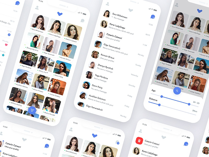 Dating Apps Exploration iphone x app ux ui sketch motion landing interface illustration icons graphics dating
