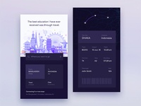 Dark Ui Design Exploration For Flight iOS App