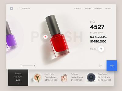 Cosmetic Ui Design skincare packaging product camera cosmetic nail-polish botanical botanic