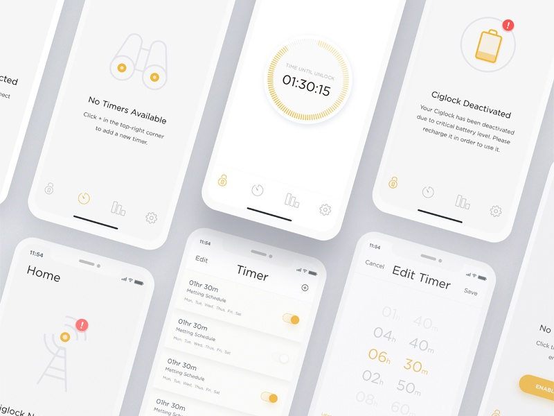 Thermostat app full view