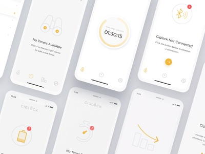 Ciglock App Exploration - 02 iphone x app crypto ios weather ux ui thermostat temperature x interaction dial graph data design app dashboard