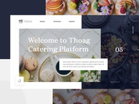 Thoag Catering Homepage Design Exploration - 03