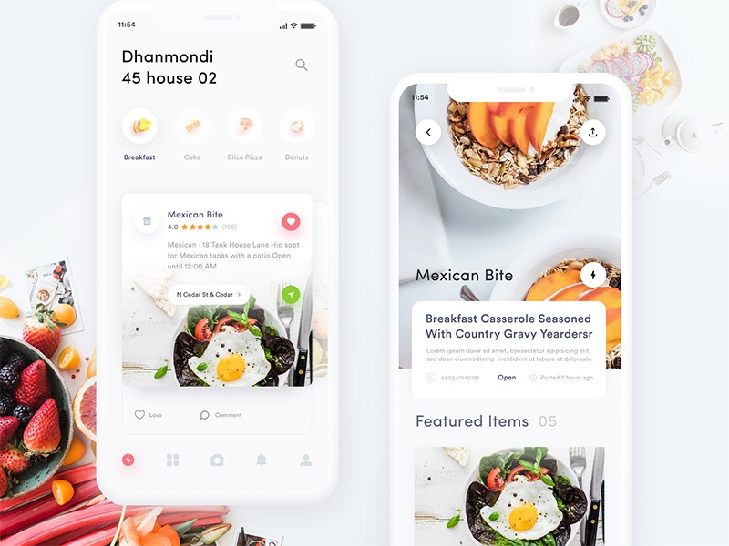 Food Delivery App Exploration by Masudur Rahman  on Dribbble