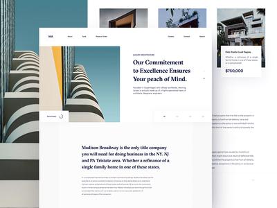 Madison Architecture grid-layout web design typography whitespace home page madison home-lander lander minimal unusual website-layout architechture