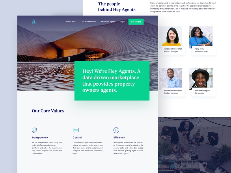 Heyagent About Us Page Design property owners about us property search hey agents find your agent data-driven property real-estate real estate agent