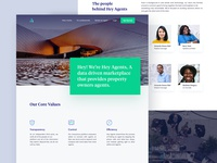 Heyagent About Us Page Design