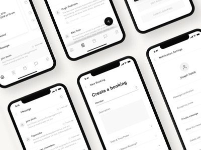 Home Care Heroes App Wireframe Design