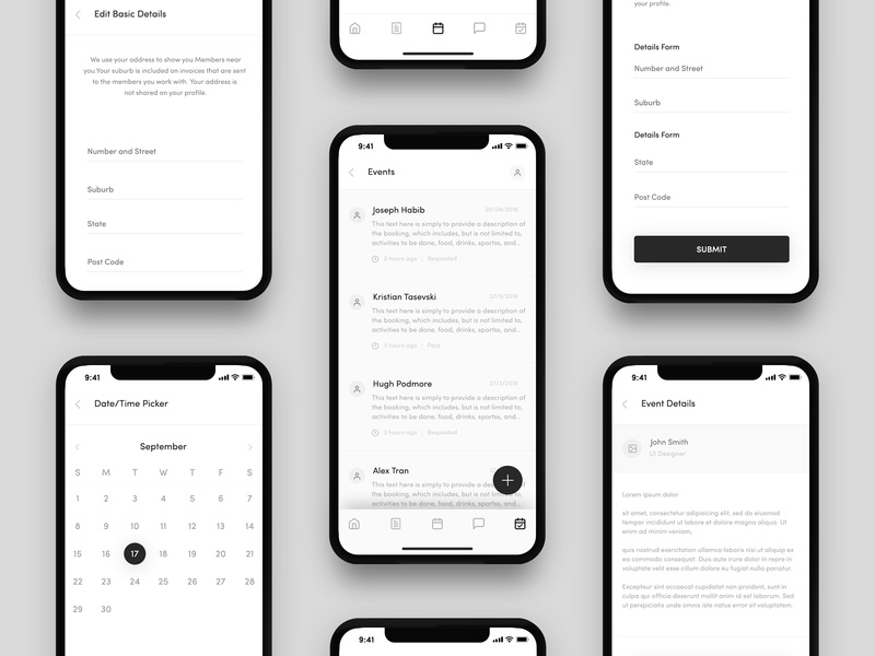 Heroes App Wireframe Design - 02 iphone x app ios app minimal ux wireframe design navigation bar iphone-x health app heroes-app wireframe-app skills training outdoor adventures household tasks high-fidelity health wellbeing arts crafts app animation