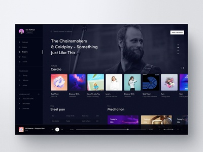 Music UI Design Exploration