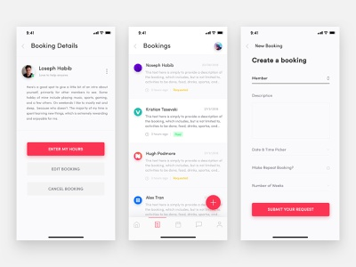 Heroes App Booking Screen Design booking details create booking booking app ux skills training outdoor adventures navigation bar minimal iphone x app iphone-x ios household tasks heroes-app health wellbeing health app arts crafts app animation app