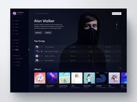 Music UI Design Artist Page