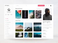 Instagram Profile Concept for Web Freebie