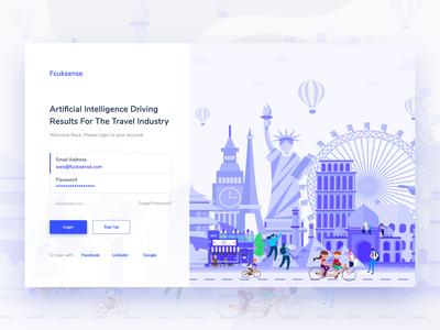 Login Screen Web App Design