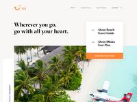 Tui travel landing page exploration