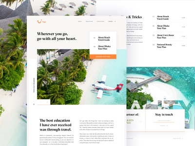 Tui Travel Landing Page Exploration - 02 landing page ui road trip tour guide tour plan travel minimal travel blog inspiration travel landing page minimal ux ui typography grid landing page concept mountains travel agency menu card web design landing page design travel blogger travel inspiration