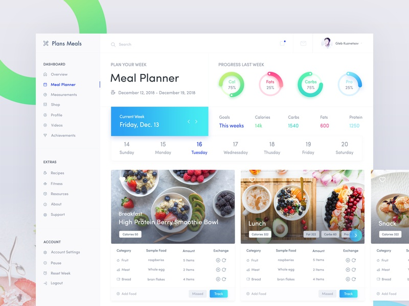Health Desktop App Meal Planner Exploration pie chart health web dashboard minimal lost ibs fitness milestone calories tracker protein current weeks fitness diary work diary food diary desktop application fitness app fitness dashboard parameter health meal planner health app health desktop app blood glucose