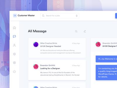 Customer Message Screen Wip