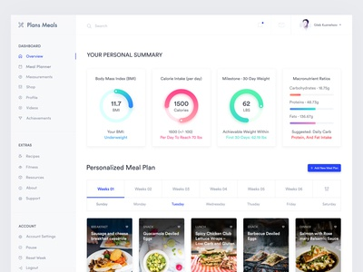 Meal Plan Health Web App Exploration