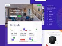 Smart Home Security Website Design